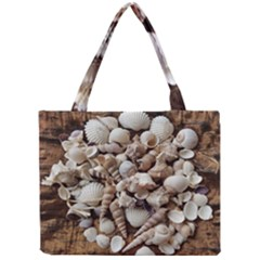 Tropical Sea Shells Collection, Copper Background Mini Tote Bag