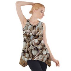 Tropical Sea Shells Collection, Copper Background Side Drop Tank Tunic