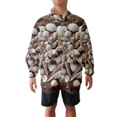 Tropical Sea Shells Collection, Copper Background Wind Breaker (kids)