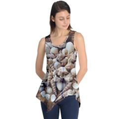 Tropical Sea Shells Collection, Copper Background Sleeveless Tunic
