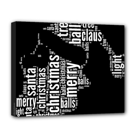 Funny Santa Black And White Typography Deluxe Canvas 20  x 16