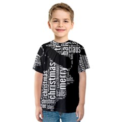 Funny Santa Black And White Typography Kid s Sport Mesh Tee