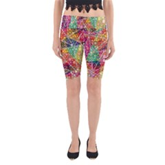Colorful Chemtrail Bubbles Yoga Cropped Leggings