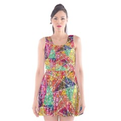 Colorful Chemtrail Bubbles Scoop Neck Skater Dress