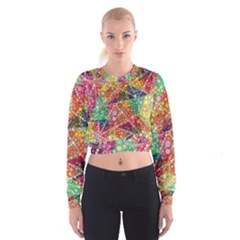Colorful Chemtrail Bubbles Women s Cropped Sweatshirt