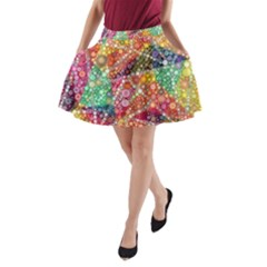 Colorful Chemtrail Bubbles A Line Pocket Skirt