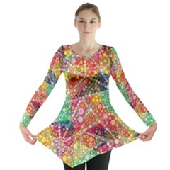 Colorful Chemtrail Bubbles Long Sleeve Tunic