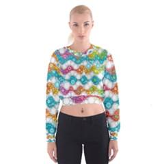Bubble Waves Women s Cropped Sweatshirt