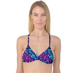 Blues Bubble Love Reversible Tri Bikini Top