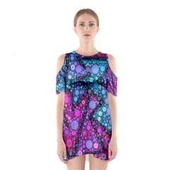 Blues Bubble Love Cutout Shoulder Dress