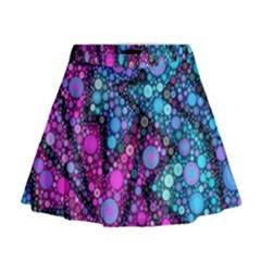 Blues Bubble Love Mini Flare Skirt