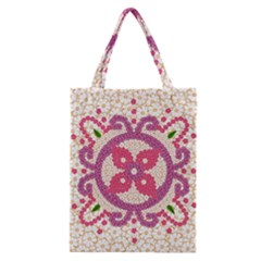 Hindu Flower Ornament Background Classic Tote Bag