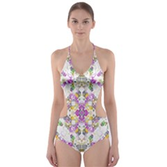 Geometric Boho Chic Cut-Out One Piece Swimsuit