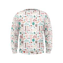 Lovely Valentine s Day Pattern Kids  Sweatshirt