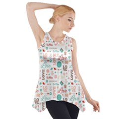 Lovely Valentine s Day Pattern Side Drop Tank Tunic