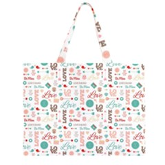 Lovely Valentine s Day Pattern Large Tote Bag