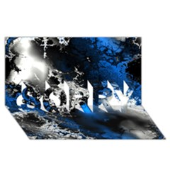 Amazing Fractal 26 SORRY 3D Greeting Card (8x4)