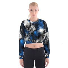 Amazing Fractal 26 Women s Cropped Sweatshirt