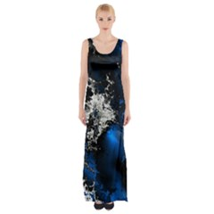 Amazing Fractal 26 Maxi Thigh Split Dress