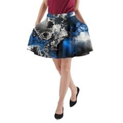 Amazing Fractal 26 A-Line Pocket Skirt