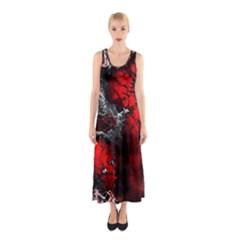 Amazing Fractal 25 Sleeveless Maxi Dress