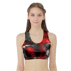 Amazing Fractal 25 Women s Sports Bra with Border