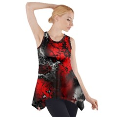 Amazing Fractal 25 Side Drop Tank Tunic