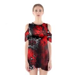 Amazing Fractal 25 Cutout Shoulder Dress