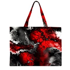 Amazing Fractal 25 Zipper Large Tote Bag