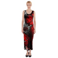 Amazing Fractal 25 Fitted Maxi Dress