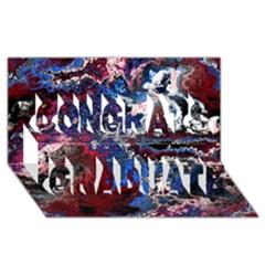 Amazing Fractal 28 Congrats Graduate 3D Greeting Card (8x4)