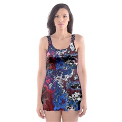 Amazing Fractal 28 Skater Dress Swimsuit