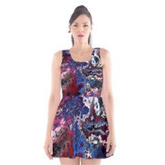 Amazing Fractal 28 Scoop Neck Skater Dress