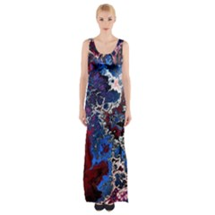 Amazing Fractal 28 Maxi Thigh Split Dress