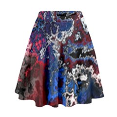 Amazing Fractal 28 High Waist Skirt