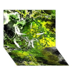 Amazing Fractal 27 Clover 3D Greeting Card (7x5)