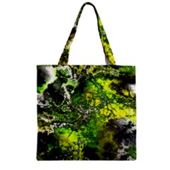 Amazing Fractal 27 Zipper Grocery Tote Bag