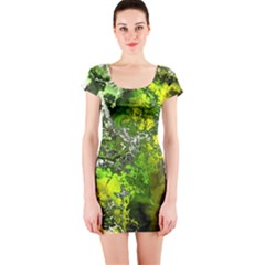 Amazing Fractal 27 Short Sleeve Bodycon Dress