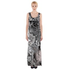 Fractal 29 Maxi Thigh Split Dress