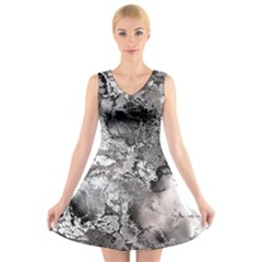 Fractal 29 V-Neck Sleeveless Skater Dress