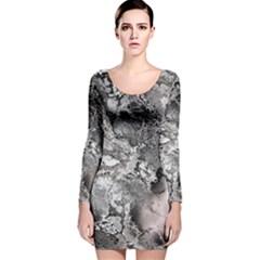 Fractal 29 Long Sleeve Velvet Bodycon Dress