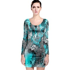 Fractal 30 Long Sleeve Bodycon Dress