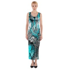 Fractal 30 Fitted Maxi Dress