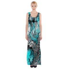 Fractal 30 Maxi Thigh Split Dress