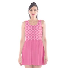 Soft pink quatrefoil pattern Scoop Neck Skater Dress