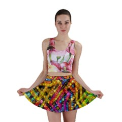Color Play in Bubbles Mini Skirt