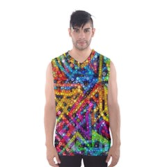 Color Play in Bubbles Men s Basketball Tank Top