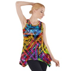 Color Play In Bubbles Side Drop Tank Tunic