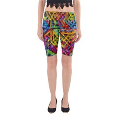 Color Play in Bubbles Yoga Cropped Leggings