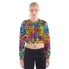 Color Play in Bubbles Women s Cropped Sweatshirt